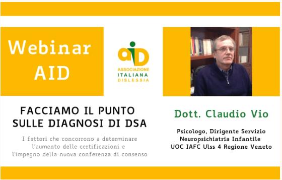 Webinar AID: facciamo il punto sulle diagnosi di DSA